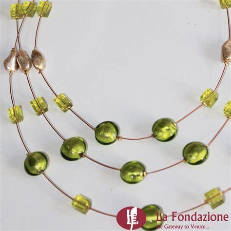 ladario vetro di murano prezzi collana 3 cavi acciaio con perle gioielli in vetro di murano