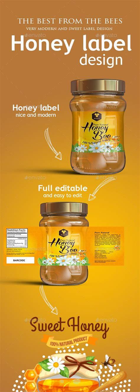 Honey Label Design Templates