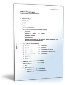 Word Vorlage Kurzmitteilung Personalfragebogen Minijob Vorlage Zum