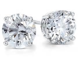 stud earrings in platinum 2 ct tw blue nile
