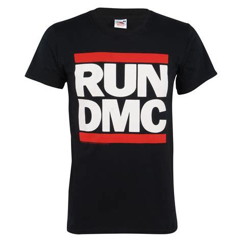 t shirt run dmc l p run dmc logo official band t shirt mens black top