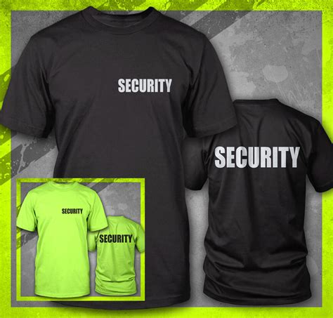 Tshirt Event Security security event staff bouncer club print safety