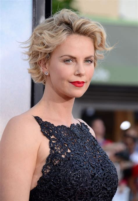 Charlize Theron Hairstyles by Charlize Theron With Curly Bob Hairstyle