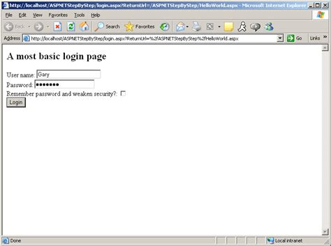 tutorial asp net login basic forms authentication asp net