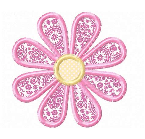 embroidery design etsy daisy applique machine embroidery design