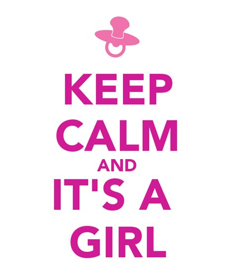 imagenes de keep calm its a girl keep calm and it s a girl poster liv sta keep calm o matic