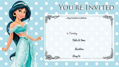 printable jasmine invitations free printable princess jasmine disney birthday invitation