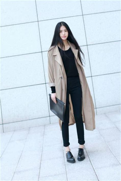 Trench Jacket Black Korean Style coat jacket beige pastel fall winter