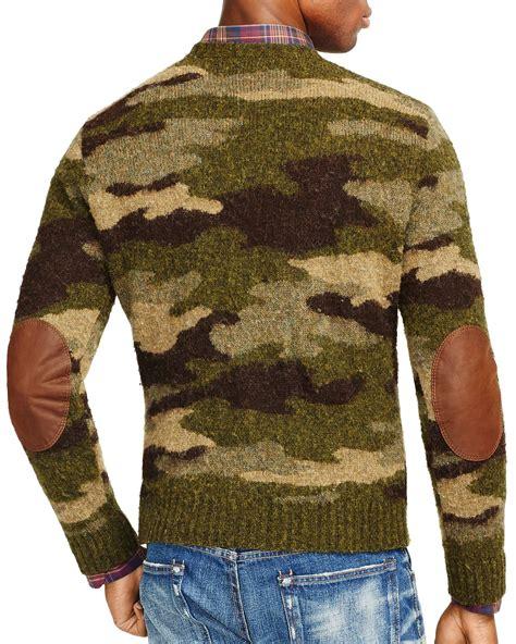Sweater Camo Ralph Polo Camo Crewneck Sweater In Green For