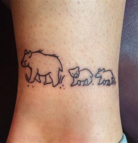mama bear tattoo the three bears from the sleeping sand dunes janet