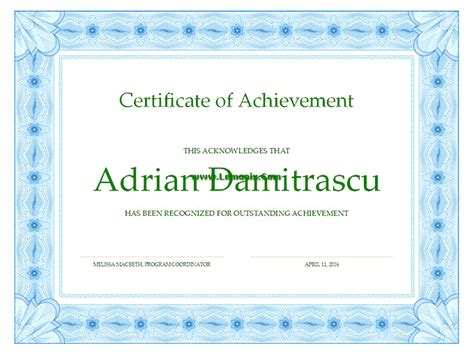 achievement related office templates for ms office software