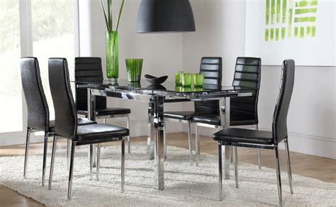 donato extending glass chrome dining room table 6 chairs space lunar extending glass chrome dining room table