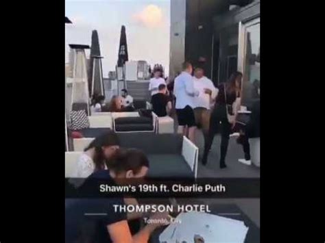 charlie puth bday charlie puth at shawn mendes birthday party in toronto