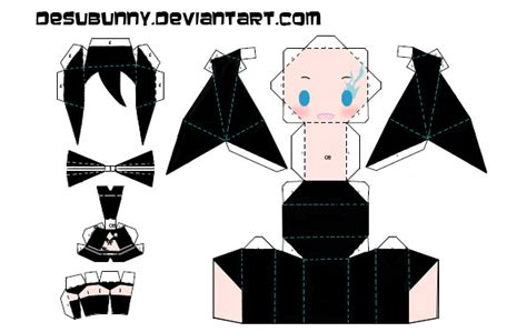 vicios anime blackrock shooter papercraft