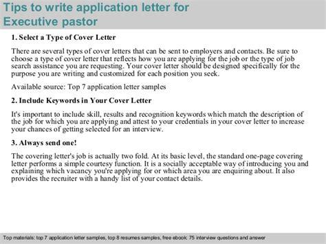 Verification Of Employment Letter For Pastor Executive Pastor Application Letter