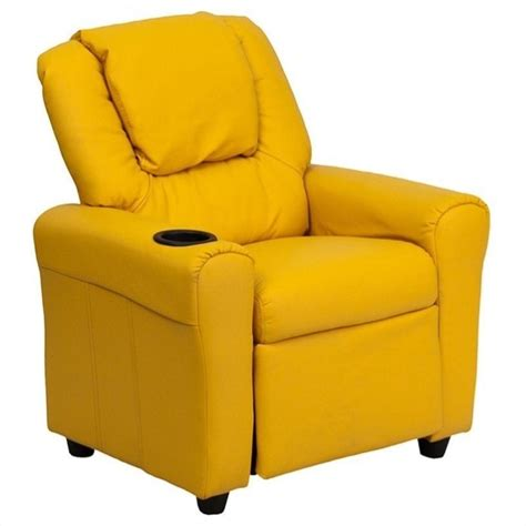 Yellow Leather Recliner Faux Leather Recliner In Yellow Dg Ult Kid Yel Gg