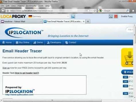 yahoo email header how to trace sender from yahoo email header youtube