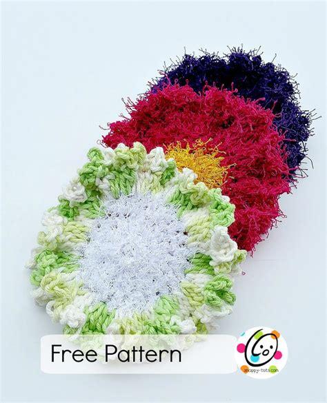 swirl scrubby free crochet pattern in red heart yarns pattern scrubby yarn review and flower scrubbers free