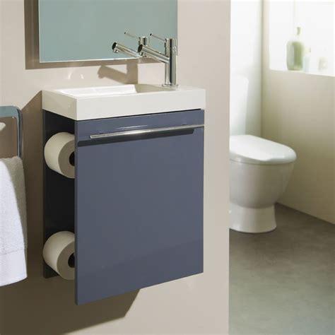 meuble lave toilette meuble lave mains complet avec distributeur de papier couleur gris souris