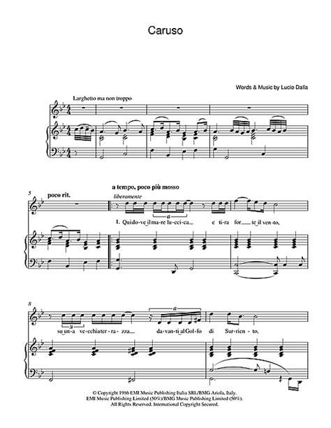 caruso sheet by luciano pavarotti piano vocal guitar 39230