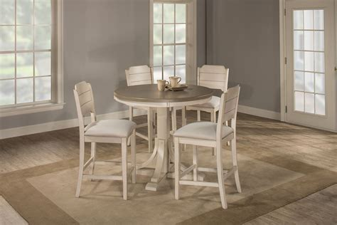 Hillsdale Clarion Round Counter Height Dining Set   Gray