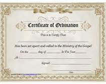 Free Ordination Certificate Template by Ministry Of The Gospel Templates Free Printable