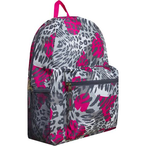 cheetah print 17 quot backpack walmart