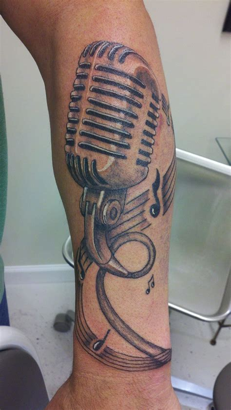 small microphone tattoos mind blowing mic designs creativefan
