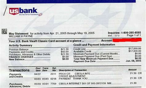 Us Bank Statement Template Best Template Collection Us Bank Statement Template