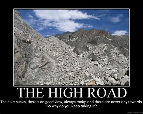 take the road quotes about taking the high road quotesgram