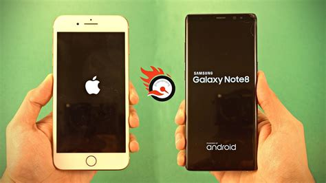 iphone 8 plus vs samsung galaxy note 8 speed test 4k