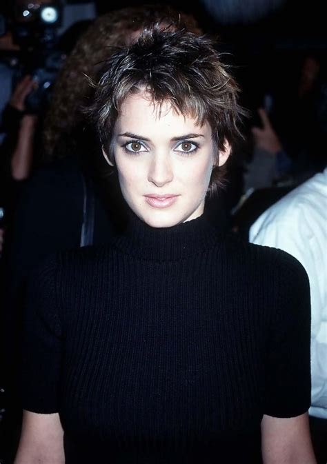 bobs of the 90s short hairstyles winona ryder the cutest celebrity pixie haircuts