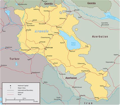 map of armenia map armenia yerevan