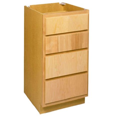 All 15 Cabinet Departments by Zee Mfg Db15bh 15 In Unfinished Birch 4 Drawer Base