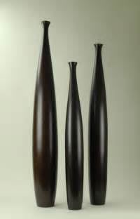 Contemporary Vases Modern Day Accents Wood Brown Vases Set Of 3 7570x
