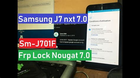 samsung j7 nxt sm j701f samsung j7 nxt sm j701f ds bypass account remove