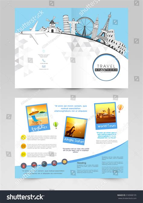 tour design template creative brochure template flyer design illustration stock
