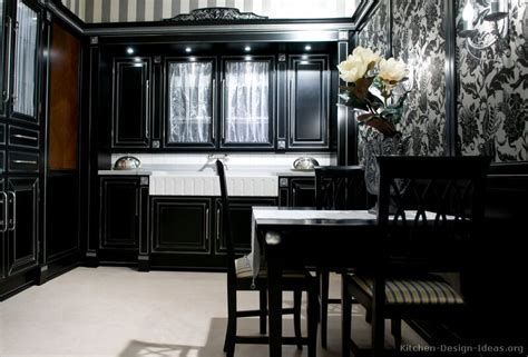 Black Kitchen Design Ideas | pictures of kitchens traditional black kitchen cabinets