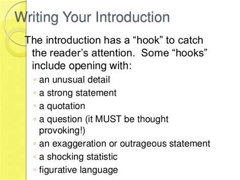 How To Write A Hook For A Persuasive Essay by Hook In An Essay 187 Education For Sustainable Development Critical Thinking