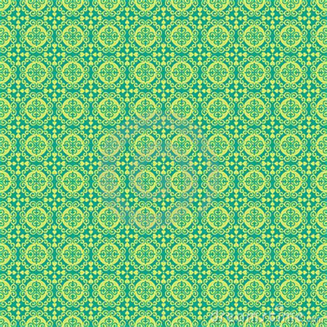 pattern background green blue blue and green damask pattern background royalty free
