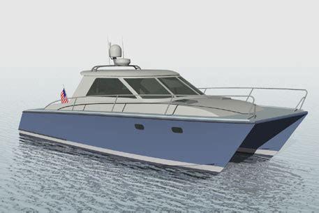planing catamaran hull design john fletcher yacht design