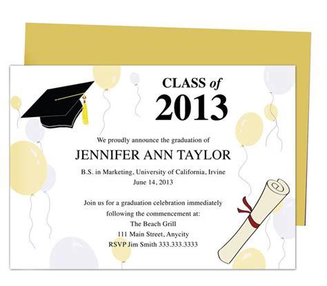 sample college graduation announcement templates free 8th grade