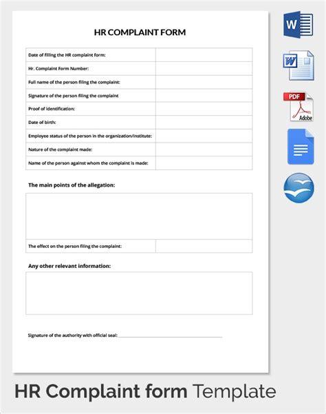 hr complaint form template 10 hr complaint forms sle templates