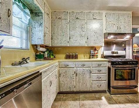 crackle paint kitchen cabinets 10 quirky kitchens from the real estate listings hooked