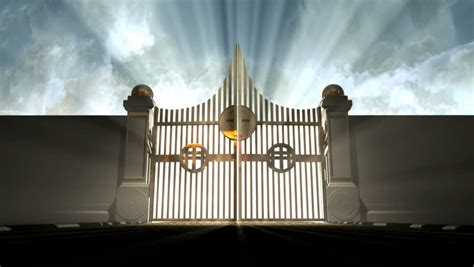 Entryway Definition Heavens Golden Gates Opening To An Ethereal Light On A