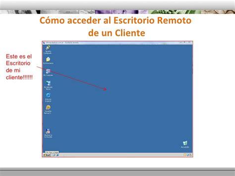 cliente escritorio remoto acceso remoto