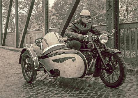 Awo Motorrad Mit Beiwagen by Simson Awo 425 T Mit Beiwagen Im Vintage Look Foto Bild