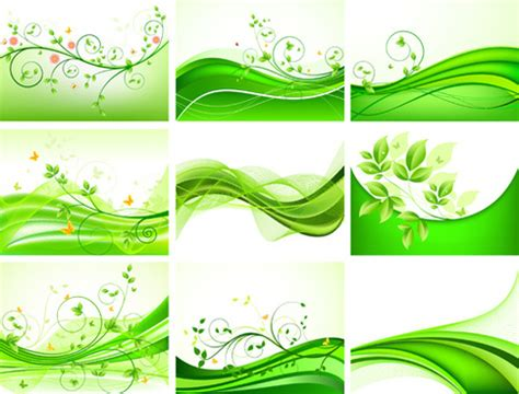 leaf pattern cdr abstract green leaves vector background free vector