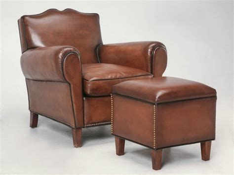 Custom Leather Ottoman Custom Leather Ottoman To Match Club Chair Now In Stock Plank