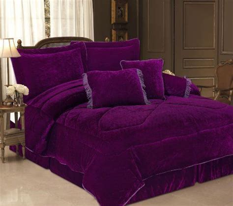 purple bedding and curtains 5 piece twin purple velvet bedding comforter bedding set